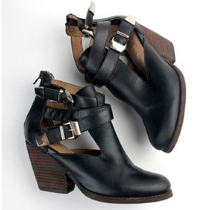 Jeffrey Campbell Leather Cutout Booties
